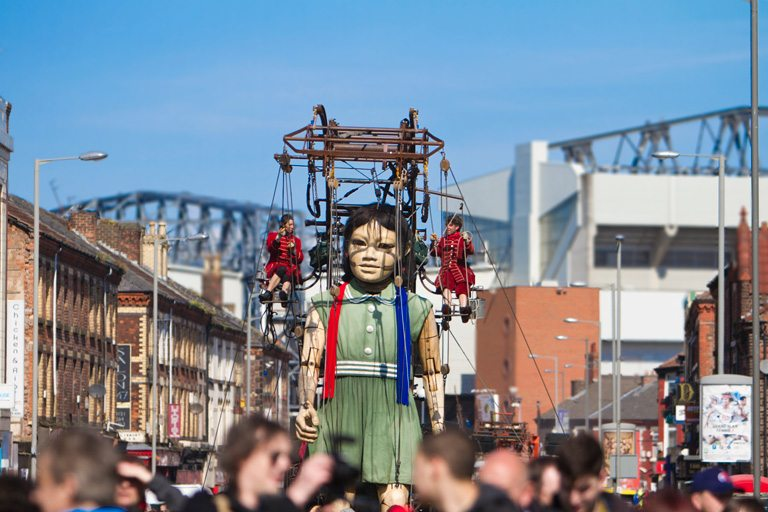 Giant Spectacular Sea Odyssey event in Anfield 2012