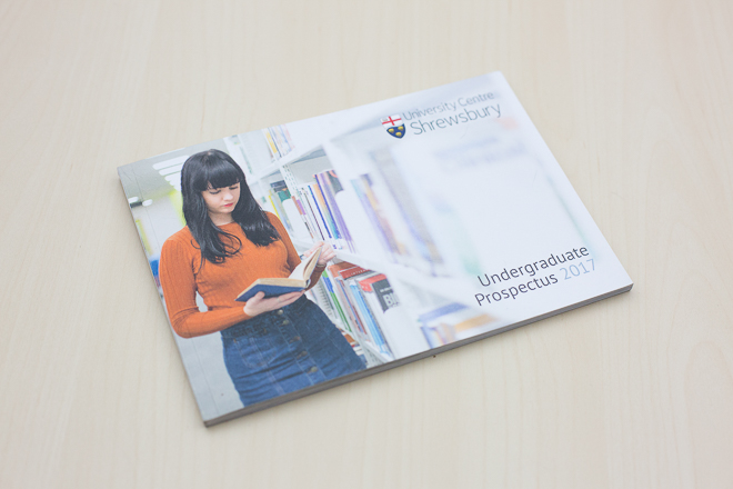 University Centre Shrewsbury – Prospectus Photography
